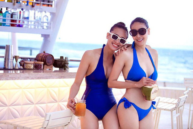 Hà Kiều Anh, Dương Mỹ Linh diện bikini - Ảnh 3.
