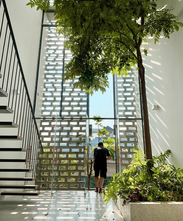 Ngôi nhà với thiết kế 2 lớp mặt tiền chống khói bụi ở Hà Nội - Ảnh 4.