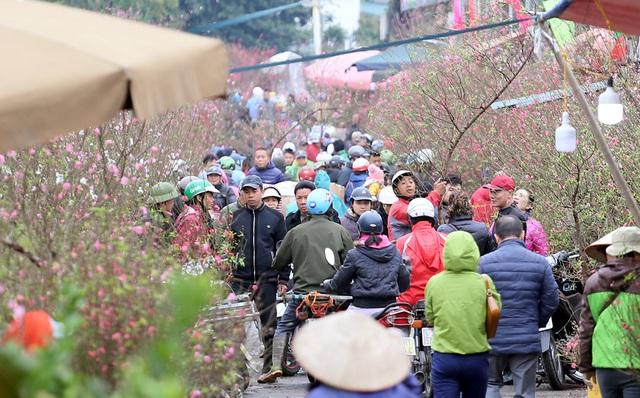 Tranh thủ cuối tuần, người Hà Nội đổ đến chợ hoa Quảng An mua sắm đông nghẹt thở - Ảnh 5.
