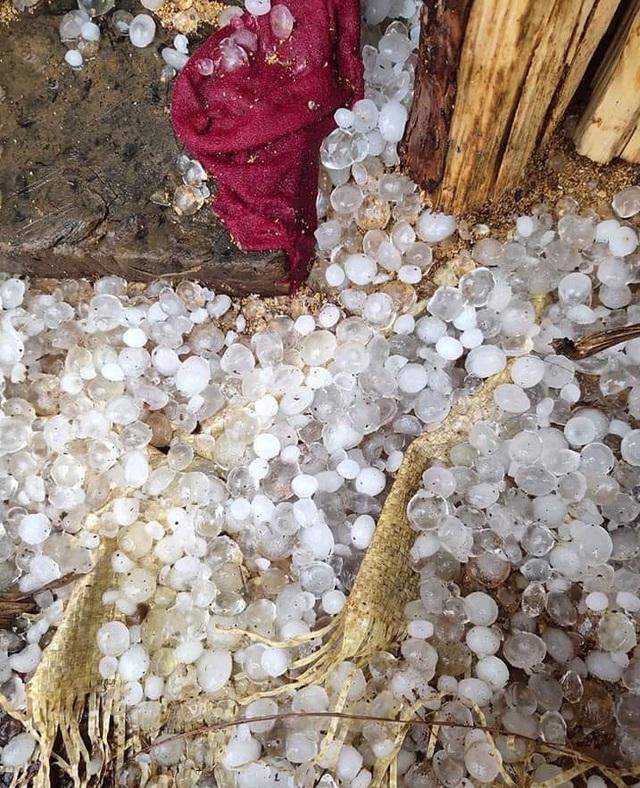 Cao Bằng: Xuất hiện mưa đá ngày 30 Tết khiến người dân hoang mang, lo lắng - Ảnh 1.