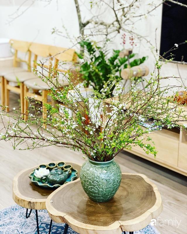 Căn hộ 76,9m² ấm áp với đủ loại hoa và nội thất gỗ ở Mỹ Đình, Hà Nội - Ảnh 24.