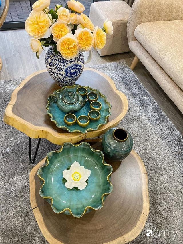 Căn hộ 76,9m² ấm áp với đủ loại hoa và nội thất gỗ ở Mỹ Đình, Hà Nội - Ảnh 32.