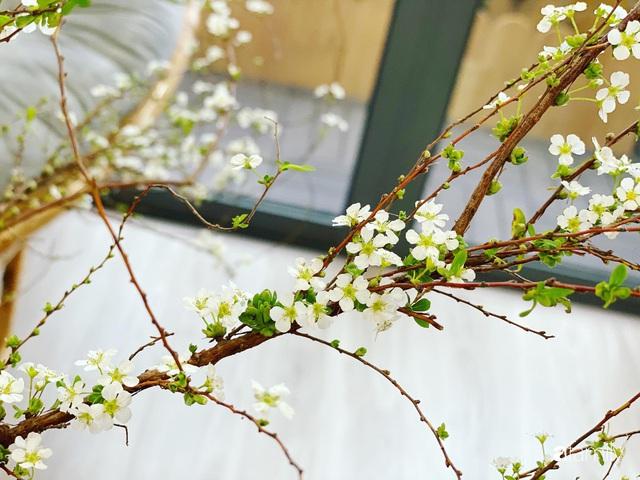 Căn hộ 76,9m² ấm áp với đủ loại hoa và nội thất gỗ ở Mỹ Đình, Hà Nội - Ảnh 8.