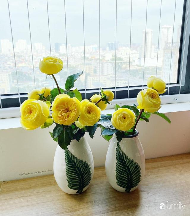 Căn hộ 76,9m² ấm áp với đủ loại hoa và nội thất gỗ ở Mỹ Đình, Hà Nội - Ảnh 10.