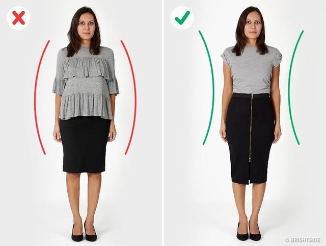 6 sai lầm khi diện đồ khiến các chị em trông béo và dìm dáng hơn hẳn - Ảnh 3.