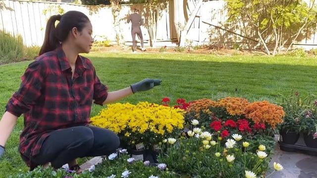 Vừa bận chăm con nhỏ nhưng Phạm Hương vẫn làm được một khu vườn trĩu cây ăn quả ở Mỹ - Ảnh 5.