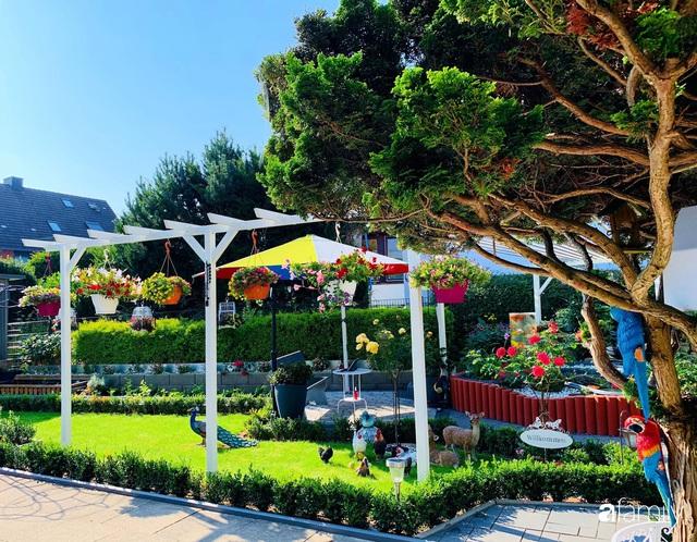 Vườn hoa 500m² đẹp như cổ tích được tạo bởi tình yêu thiên nhiên của cặp vợ chồng dành cả thanh xuân để trồng cây - Ảnh 2.
