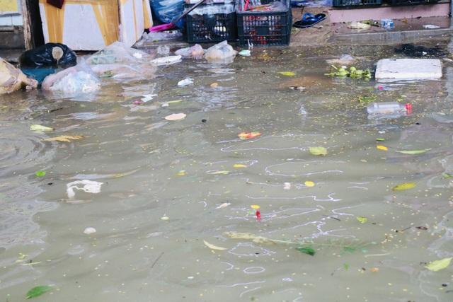 Đường phố Huế lại ngập chìm trong nước - Ảnh 6.