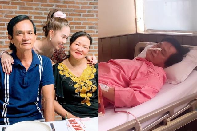 Ngọc Trinh chăm sóc ba ở bệnh viện - Ảnh 1.