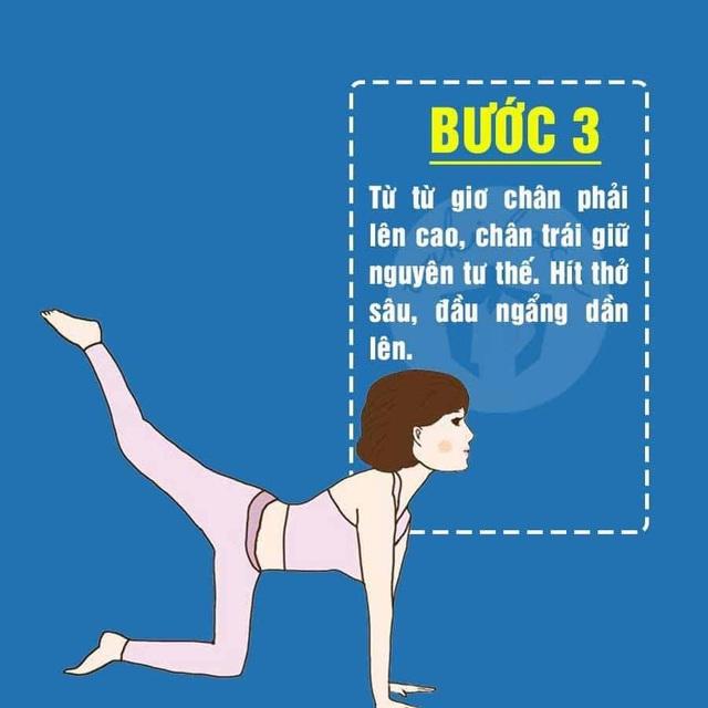 5 động tác Yoga cực đơn giản giúp mông nở chân thon ai cũng có thể tập tại nhà - Ảnh 4.