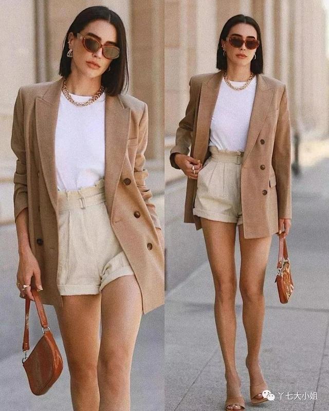 Trời se lạnh chưa biết mặc gì vừa đẹp vừa chất thì bạn hãy diện áo blazer và quần short là có ngay outfit 10 điểm - Ảnh 1.