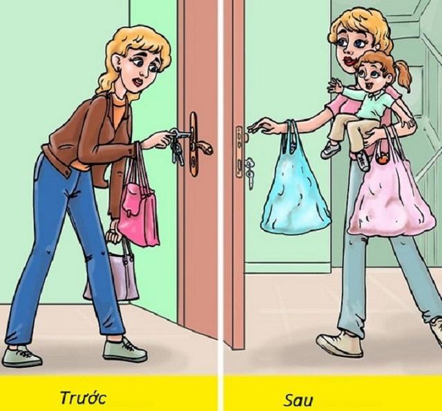 10 khác biệt hài hước trước và sau khi có con - Ảnh 4.