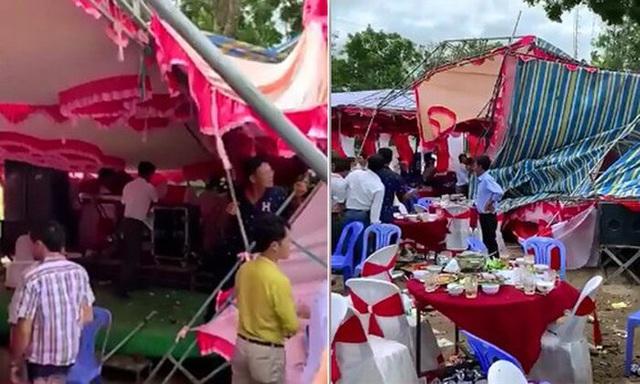 Hình ảnh gây bão: Đám cưới ngày mưa lớn, chủ nhà và quan khách vẫn bình thản ăn cỗ giữa biển nước - Ảnh 4.