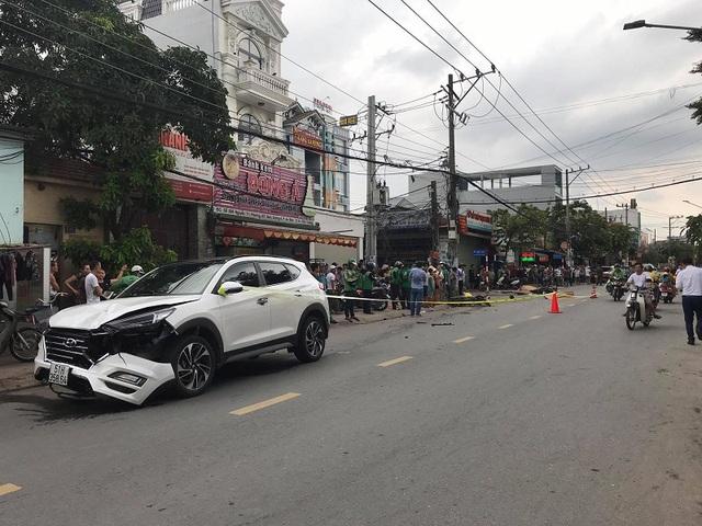 Nữ sinh và tài xế Grab chết thảm sau va chạm với ô tô ở Bình Dương - Ảnh 2.