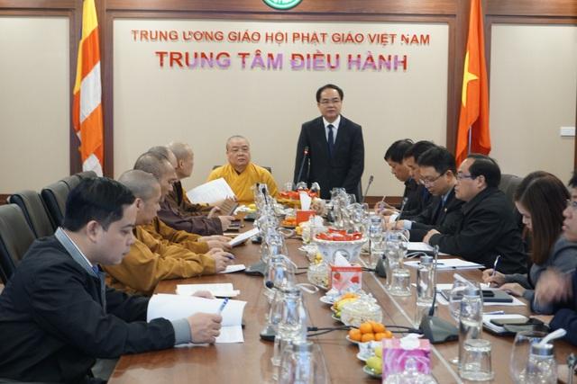 Giáo hội Phật giáo Việt Nam chỉ đạo tạm dừng mọi hoạt động lễ hội đông người tại Vĩnh Phúc để phòng, chống dịch nCoV - Ảnh 4.