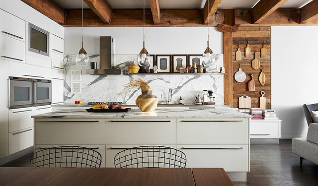 Ngây ngất với nét mộc mạc hiếm hoi bên trong căn phòng bếp gia đình hiện đại - Ảnh 2.