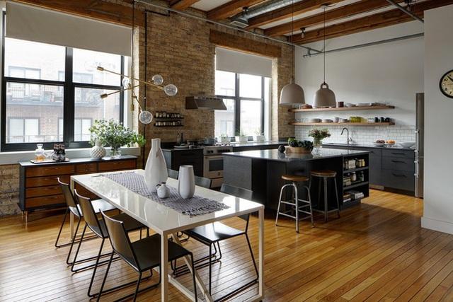 Ngây ngất với nét mộc mạc hiếm hoi bên trong căn phòng bếp gia đình hiện đại - Ảnh 3.