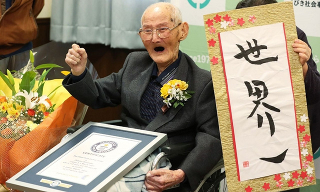 Cụ 112 tuổi là người đàn ông thọ nhất thế giới  - Ảnh 1.