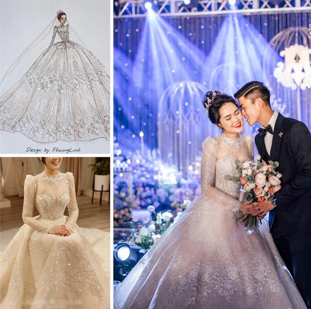 Nhà thiết kế tiết lộ giá váy cưới của vợ Duy Mạnh - Ảnh 1.