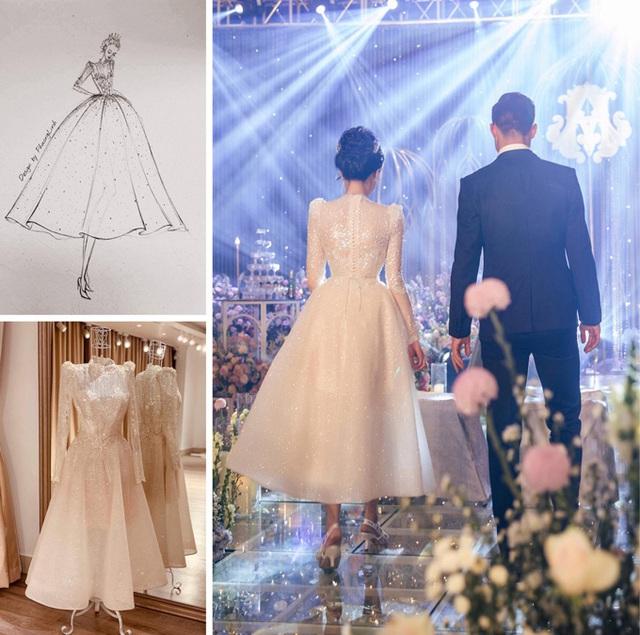 Nhà thiết kế tiết lộ giá váy cưới của vợ Duy Mạnh - Ảnh 2.
