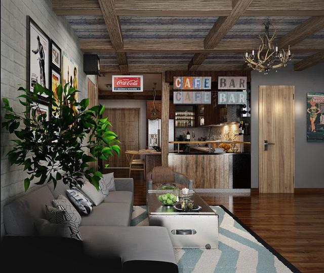 Căn hộ chung cư gây ấn tượng nhờ quầy bar độc đáo - Ảnh 2.