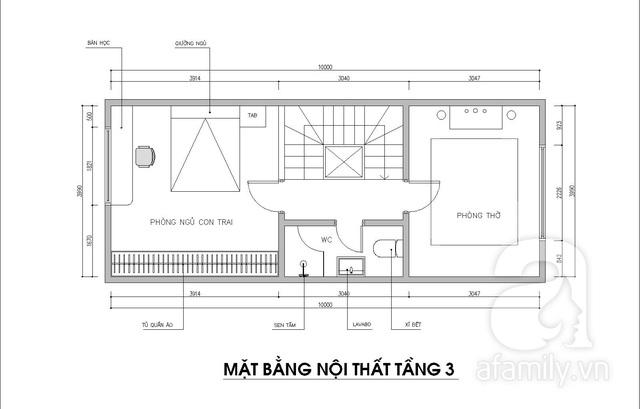 Ấn tượng với ngôi nhà 3 tầng có diện tích 70m² được kiến trúc sư tư vấn thiết kế với chi phí 117 triệu đồng - Ảnh 4.