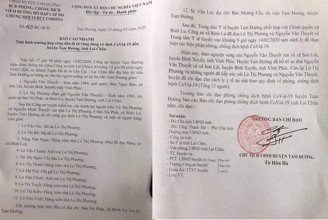 Lai Châu: Cách ly 13 người tiếp xúc với thanh niên ở tâm dịch Vĩnh Phúc - Ảnh 2.
