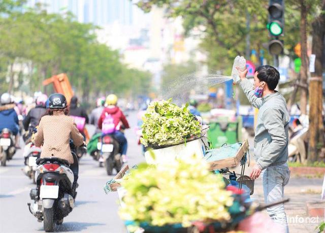 Hoa bưởi đầu mùa xuống phố, thơm nồng nàn khắp phố phường Hà Nội - Ảnh 11.