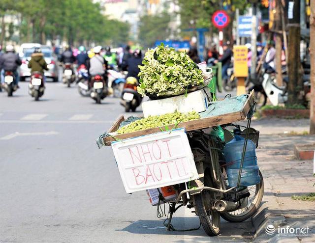 Hoa bưởi đầu mùa xuống phố, thơm nồng nàn khắp phố phường Hà Nội - Ảnh 3.