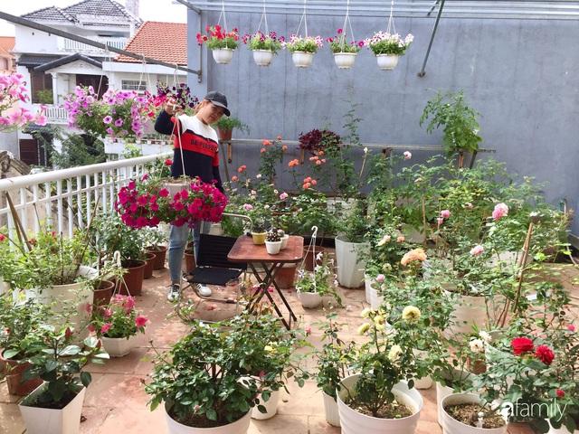 Mê hoa hồng, cô gái trẻ xứ Huế quyết tâm thức khuya dậy sớm tạo cả khu vườn hồng rực rỡ trên sân thượng - Ảnh 4.
