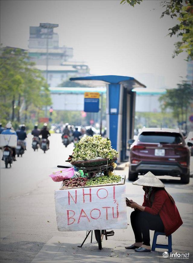 Hoa bưởi đầu mùa xuống phố, thơm nồng nàn khắp phố phường Hà Nội - Ảnh 5.