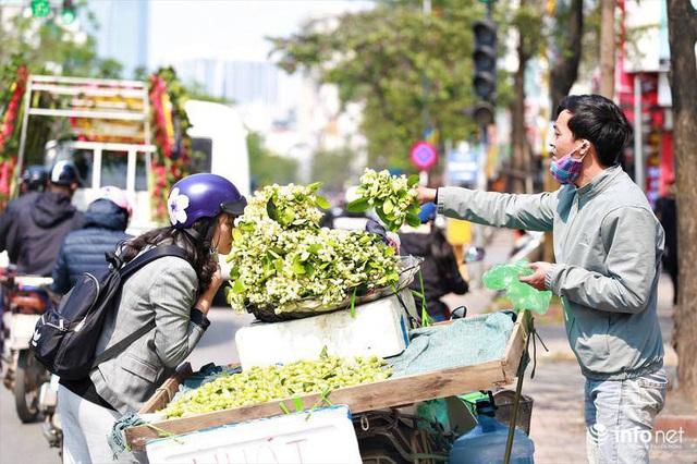 Hoa bưởi đầu mùa xuống phố, thơm nồng nàn khắp phố phường Hà Nội - Ảnh 9.