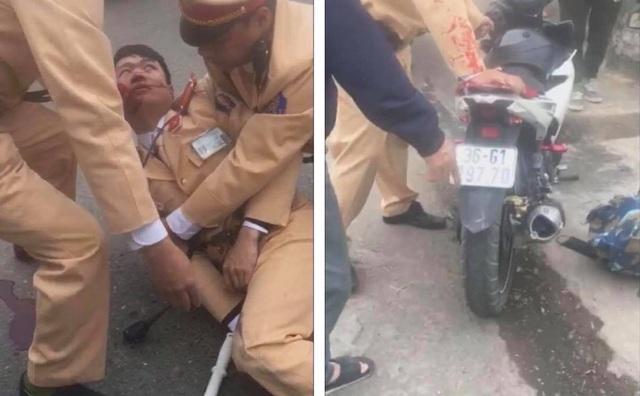 Đôi nam nữ đi xe máy vượt đèn đỏ, tông CSGT bất tỉnh trên QL 32 - Ảnh 3.