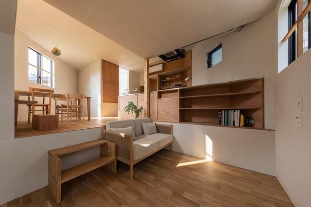 Mê cung trong căn nhà 3 tầng khi mặt sàn được chia thành 16 độ cao khác nhau - Ảnh 4.