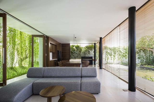 Ngôi nhà 1 tầng mát mẻ quanh năm nhờ cây xanh phủ khắp lối - Ảnh 4.