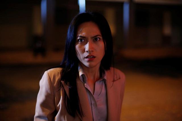 Phương Anh Đào nhí nhảnh hậu trường phim kinh dị - Ảnh 3.
