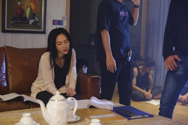 Phương Anh Đào nhí nhảnh hậu trường phim kinh dị - Ảnh 7.
