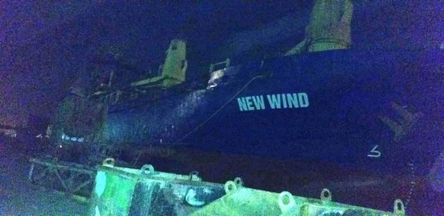 Hải Phòng: Cháy tàu ở công ty Đóng tàu Phà Rừng - Ảnh 1.
