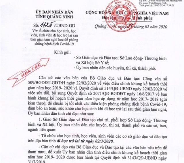 Học sinh, sinh viên tỉnh Quảng Ninh đi học trở lại vào ngày 2/3 - Ảnh 2.