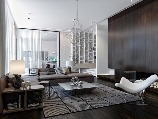 Ngôi nhà hiện đại sử dụng nội thất dạng hình học độc đáo - Ảnh 1.