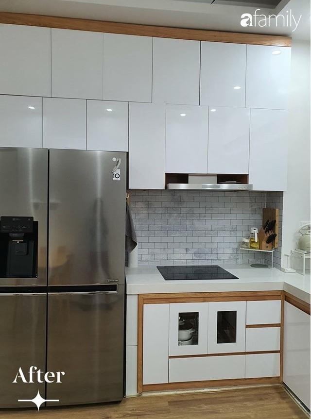 Cuộc cải tổ cho căn hộ 75m² với chi phí 350 triệu đồng, mẹ đảm ở Hà Nội khiến ai cũng công nhận nhà vừa đẹp vừa sang - Ảnh 3.