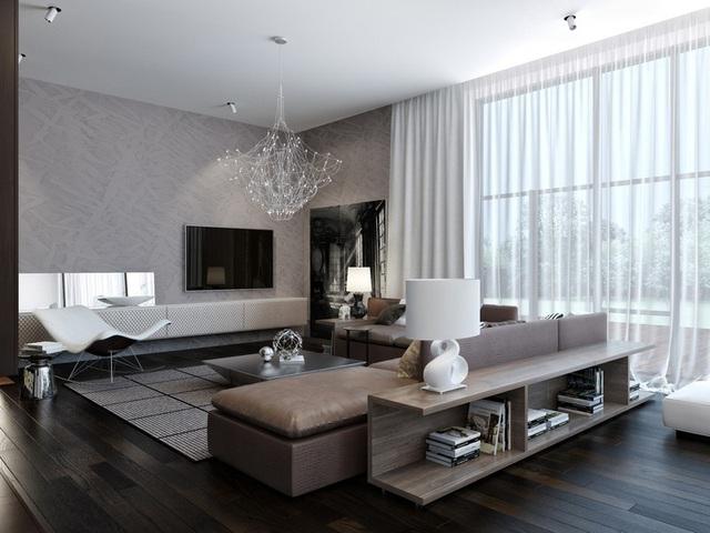 Ngôi nhà hiện đại sử dụng nội thất dạng hình học độc đáo - Ảnh 3.