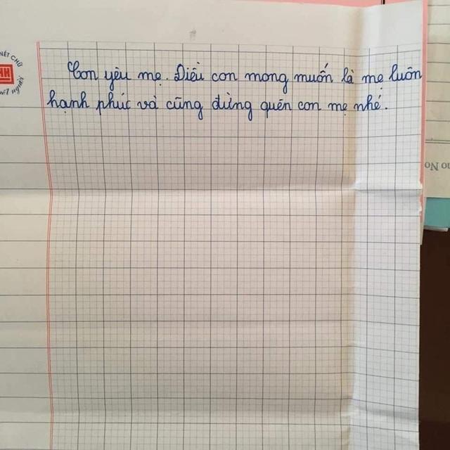 Sự thật về lá thư của học sinh lớp 5 đang gây bão mạng Con mong mẹ hiểu, mẹ còn đứa con gái đang sống cùng bà nội - Ảnh 3.
