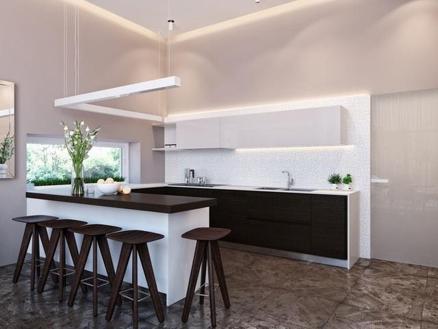 Ngôi nhà hiện đại sử dụng nội thất dạng hình học độc đáo - Ảnh 4.