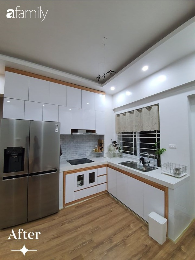 Cuộc cải tổ cho căn hộ 75m² với chi phí 350 triệu đồng, mẹ đảm ở Hà Nội khiến ai cũng công nhận nhà vừa đẹp vừa sang - Ảnh 5.