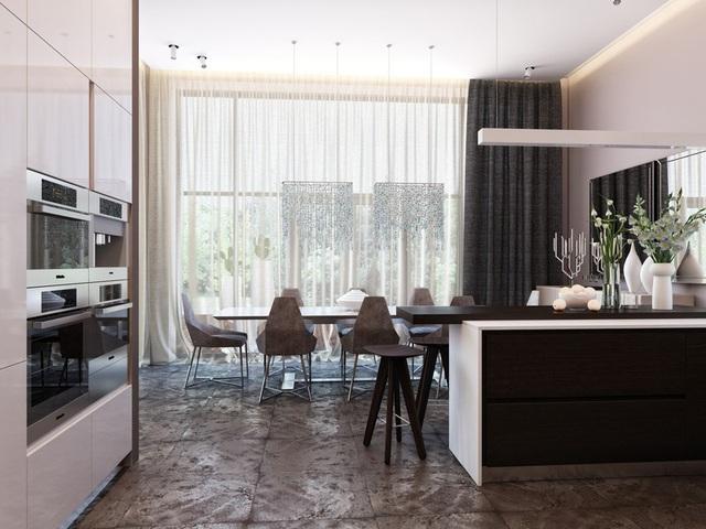 Ngôi nhà hiện đại sử dụng nội thất dạng hình học độc đáo - Ảnh 5.