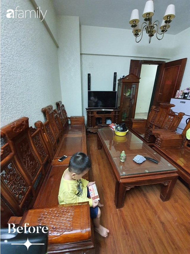 Cuộc cải tổ cho căn hộ 75m² với chi phí 350 triệu đồng, mẹ đảm ở Hà Nội khiến ai cũng công nhận nhà vừa đẹp vừa sang - Ảnh 7.