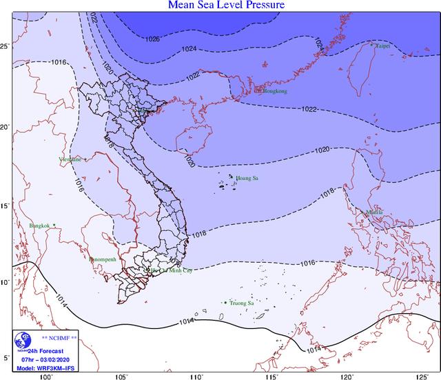 Thông tin mới nhất về không khí lạnh đang tràn xuống miền Bắc - Ảnh 1.