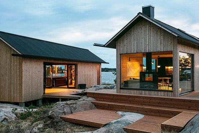 Ngôi nhà nhỏ xíu kiểu cabin mang phong cách Scandinavia đẹp đến nao lòng - Ảnh 2.