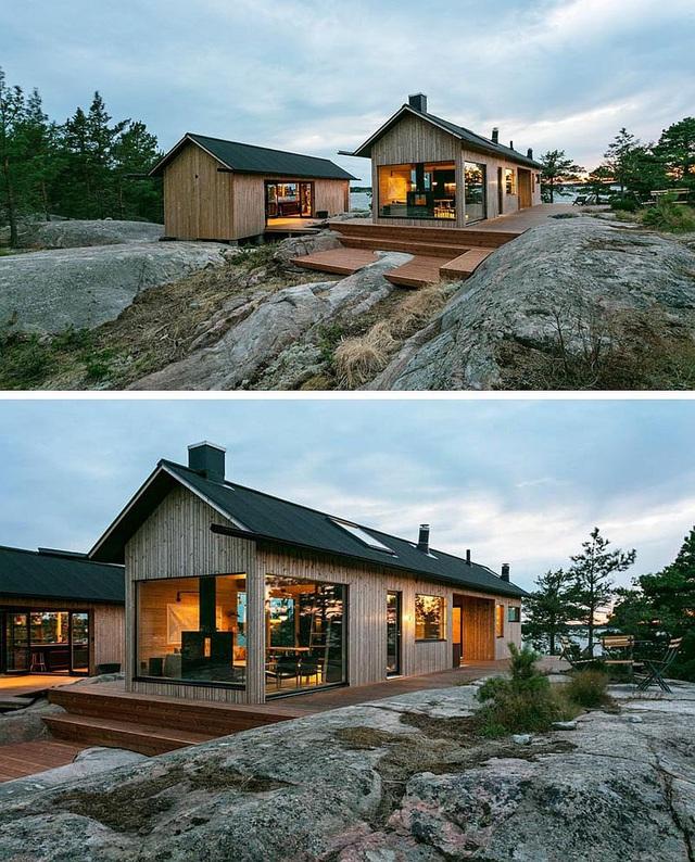 Ngôi nhà nhỏ xíu kiểu cabin mang phong cách Scandinavia đẹp đến nao lòng - Ảnh 3.